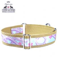 MARTINGALE DOG COLLAR - HAWAIIAN SWIRLS TURQUOISE